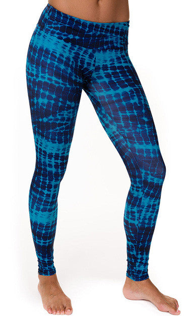 TEAL TIE DYE LONG LEGGING