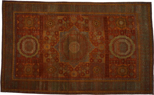 Traditional Mamluk Hand-knotted Turkish Carpet