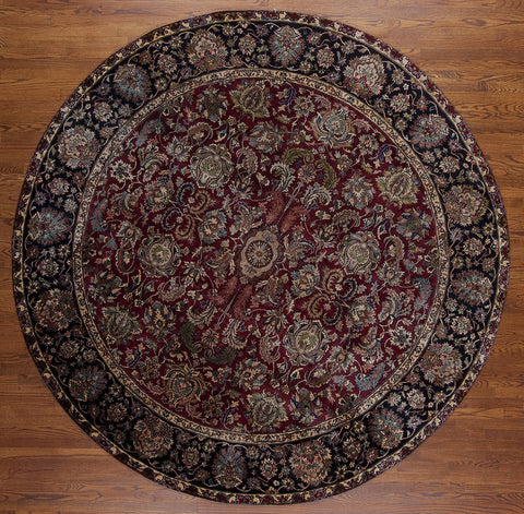 Hand-knotted Indian Area Rug Round