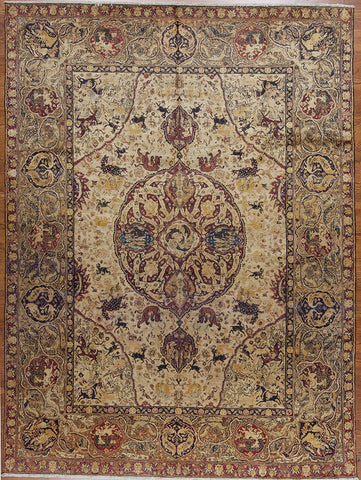 Hand-knotted Antique Indian Area Rug