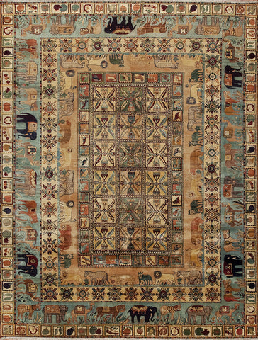 Hand-knotted Antique Indian Oriental Rug