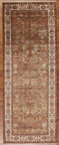 Hand-knotted Indian Area Rug Runner