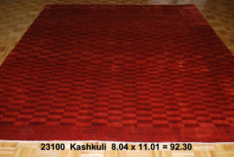 Red Kashkuli Persian Hand-knotted Carpet