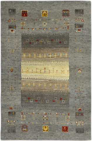 Hand-knotted Gabbeh Carpet