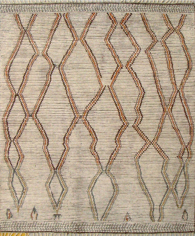 Moroccan Design Handknotted Rug