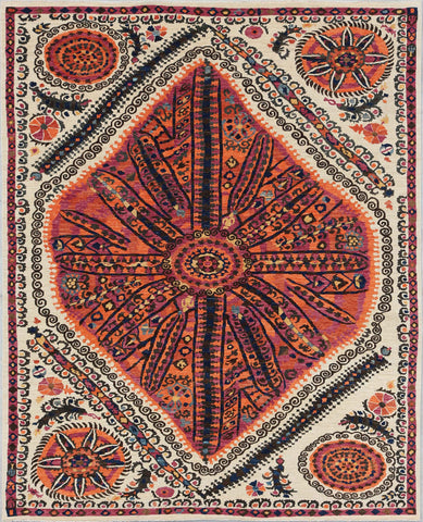 Suzani Design Handknotted Rug