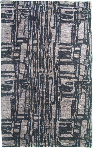 Abstract Oriental Area Rug Handmade In Pakistan