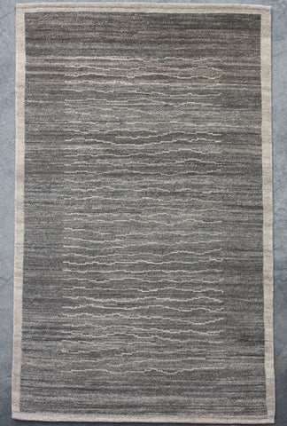 Grey Natural-Dye Tibetan Wool Area Rug