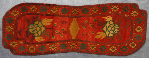Saddle Blanket Natural-Dye Tibetan Wool Area Rug