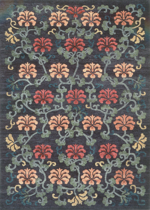 Tibetan Hand Knotted Area Rug Chrysanthemum Field