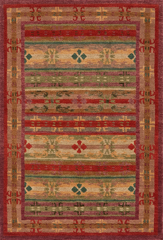 Tibetan Hand Knotted Area Rug Tibetan Trellis Red With