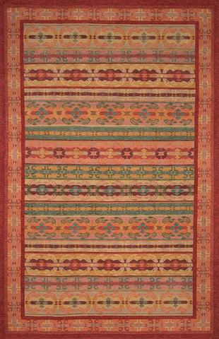 Handknotted Tibetan wool area rug