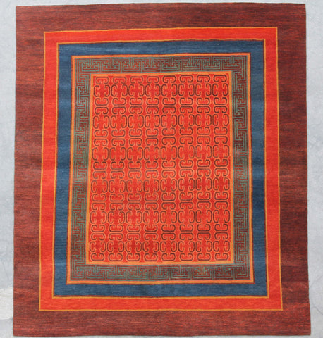 Natural-Dye Tibetan Wool Area Rug