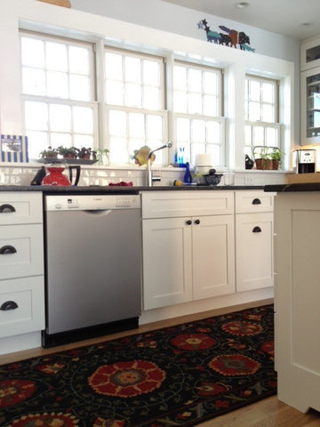 Mountain High Soumak Suzani Rug in customer kitchen
