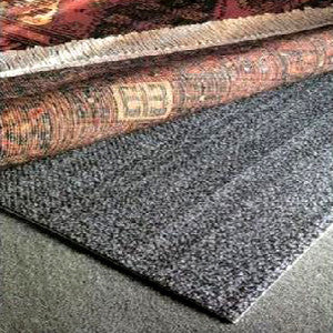 Teebaud non skid rug underlay rug pad with two sides that work for all floor surfaces - soft surface shown