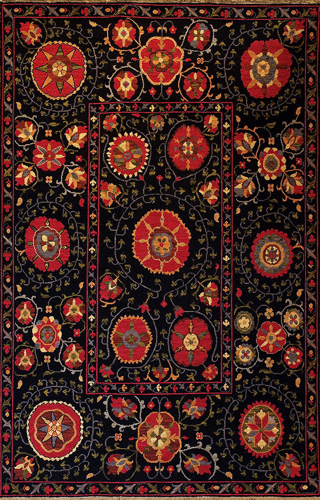 Mountain High Soumak Rug Black Red   Traditional And Contemporary, This  Soumak Area Rug Is