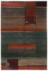 Desert Sky - A very modern, abstract, thick pile 60 count weave Tibetan rug