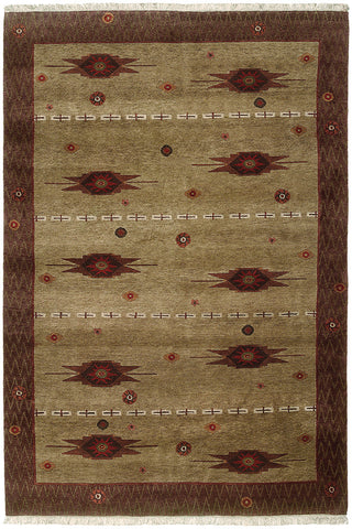 Desert Star- a rustic Tibetan weave area rug. Simple and casual, but elegant it it's star patterns reminiscent of a constellation