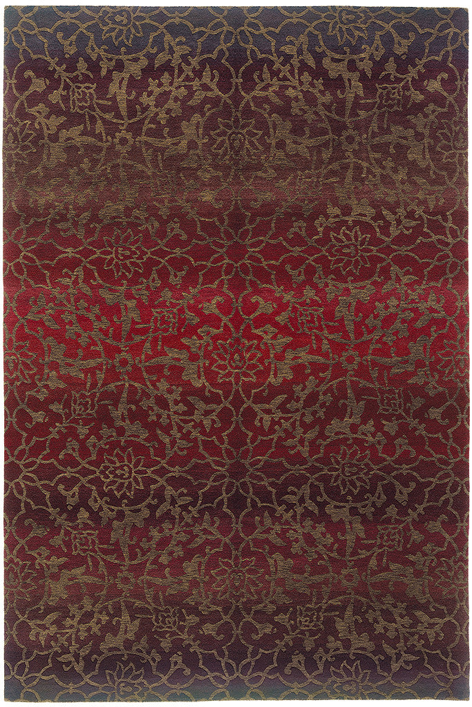 Tibetan Wool Hand Knotted Area Rug Divine Red A Rug