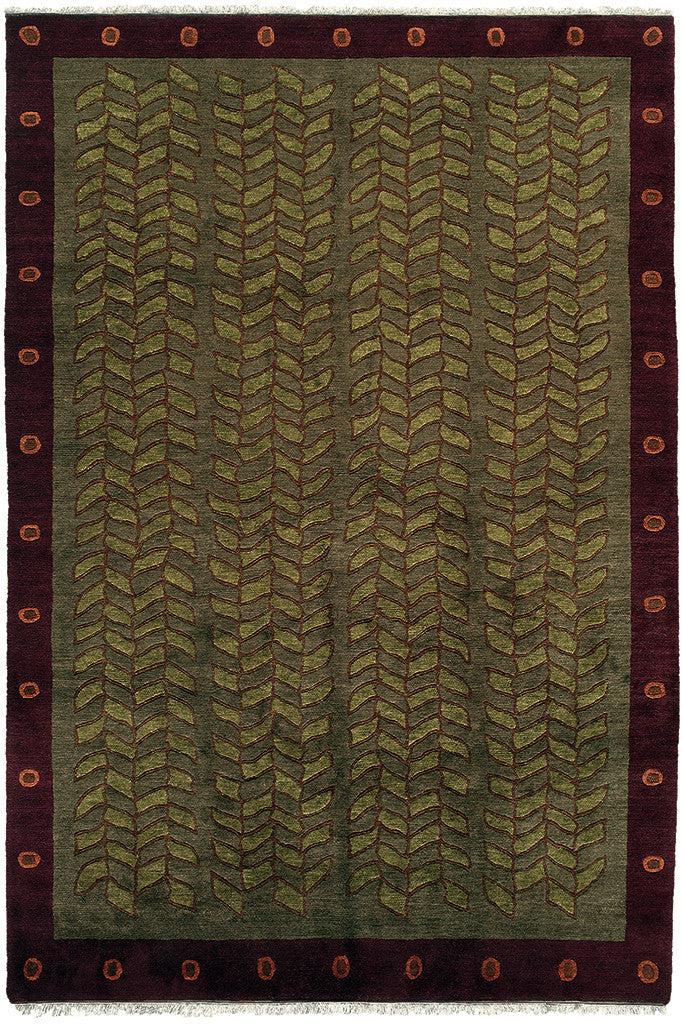 Tibetan Wool Hand Knotted Area Rug Kelp A Rug For All