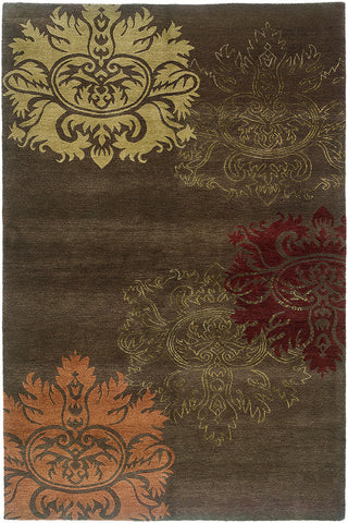 Tibetan Wool Hand Knotted Area Rug Lotus A Rug For All
