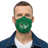Green Christmas Math Face Mask - fa(La)^8 - Minute Math