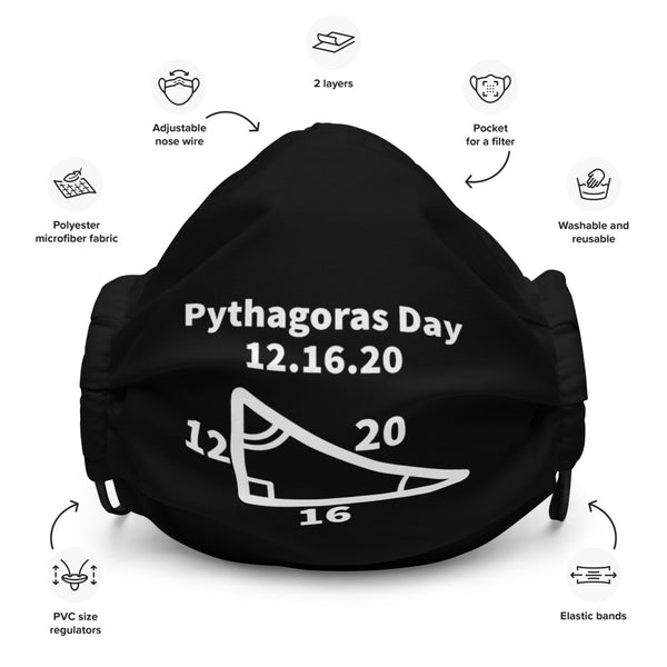 Pythagoras Day Face Mask - Minute Math