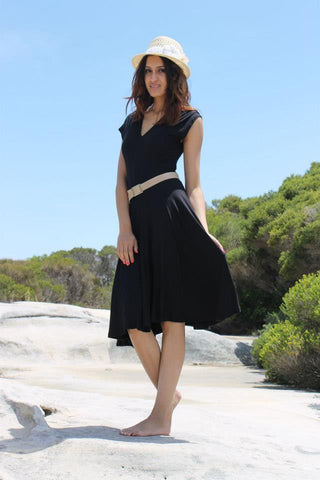 V neck Dress {Black}