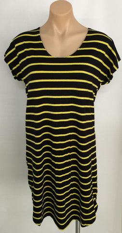 {Black & Yellow} TEE DRESS