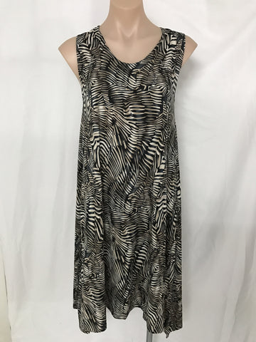 Dip Dress {ZEBRA}