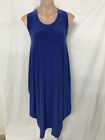 Drape dress {BLUE}