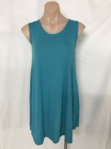 SWING DRESS {AQUA} - small only