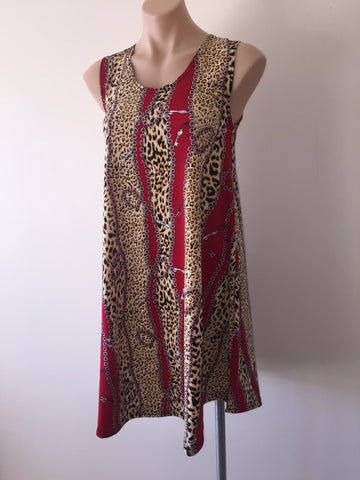 Swing Dress  {Red Leopard}