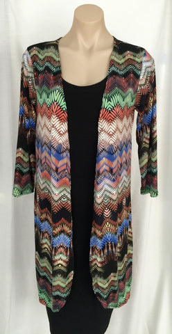 Jersey Cardigan {Zig Zag} SMALL ONLY