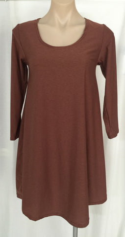 SWING DRESS {Rust}
