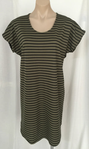 Tee Dress {Khaki Stripe}