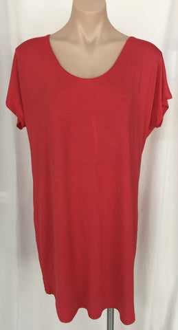 Tee Dress {Red} Large Only