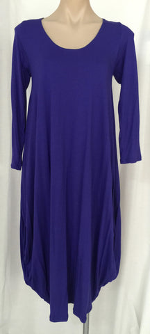 Drape dress with sleeves {Purple}