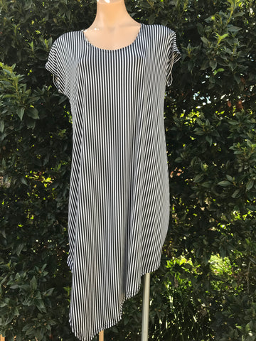 Stripe Asymmetric Tunic