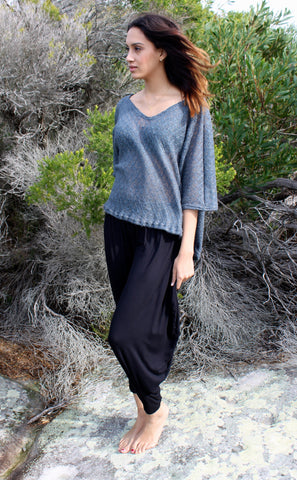 {Black} DRAPED PANTS