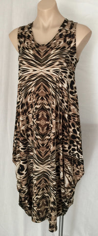 Drape dress {Animal}