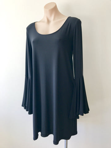 Frill Sleeve Dress {Black}