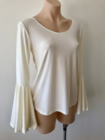 Frill Sleeve Top {Ivory}
