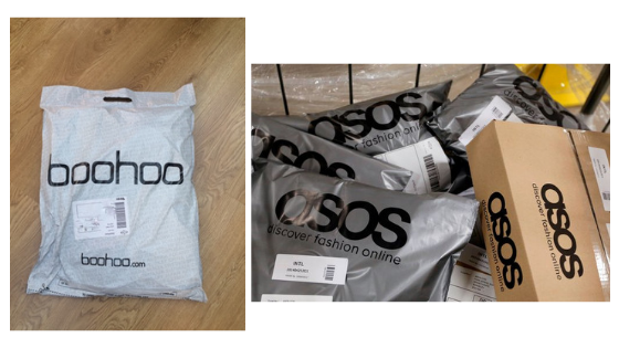 bohoo asos fashion boutique packaging shipping materials inspiration inspo for online boutique