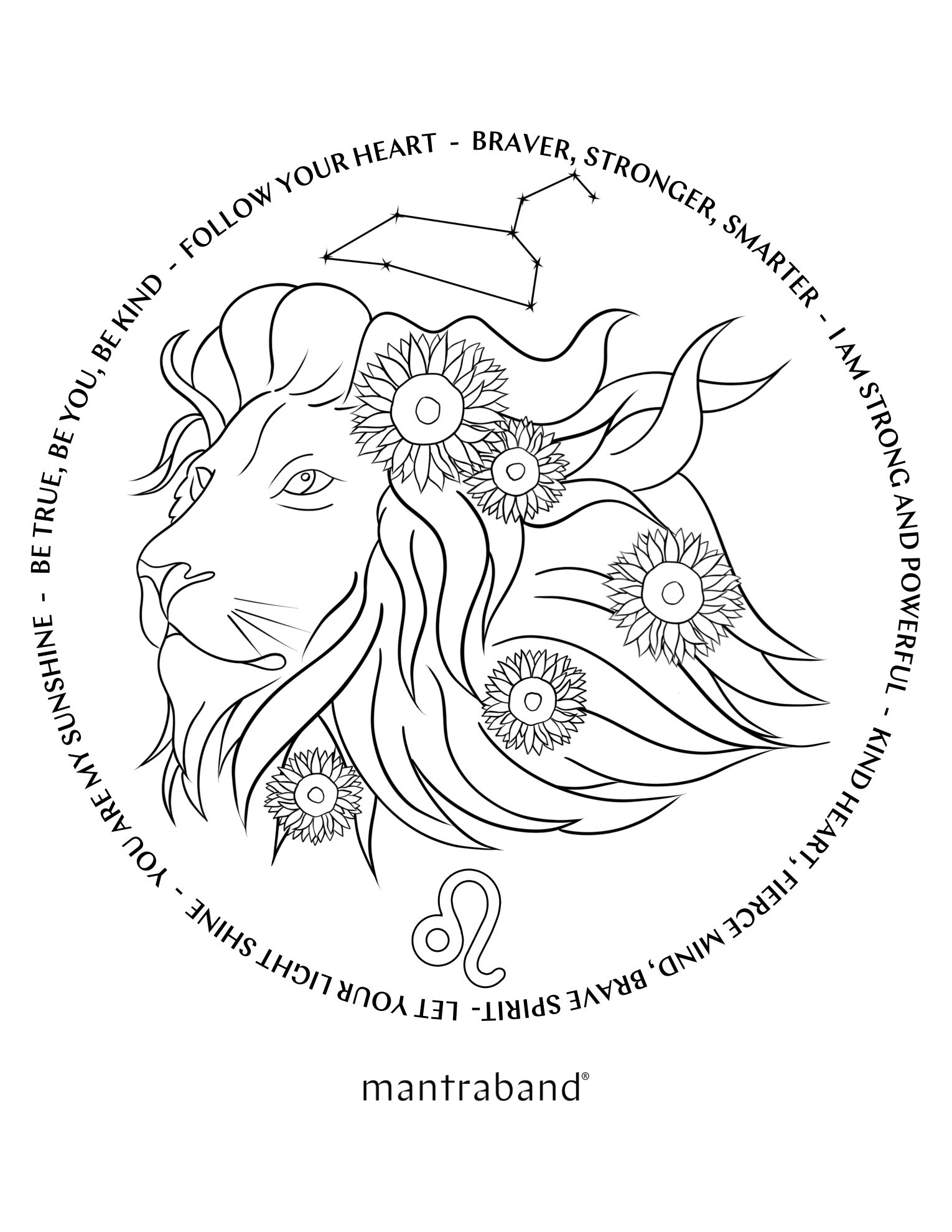 NATIONAL COLORING BOOK DAY CHALLENGE - LEO SEASON