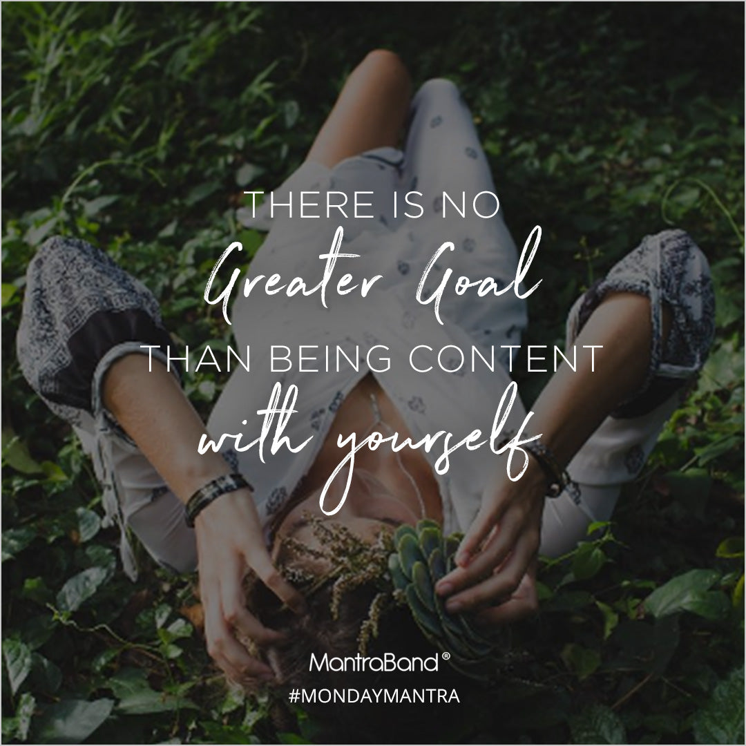 be content with yourself