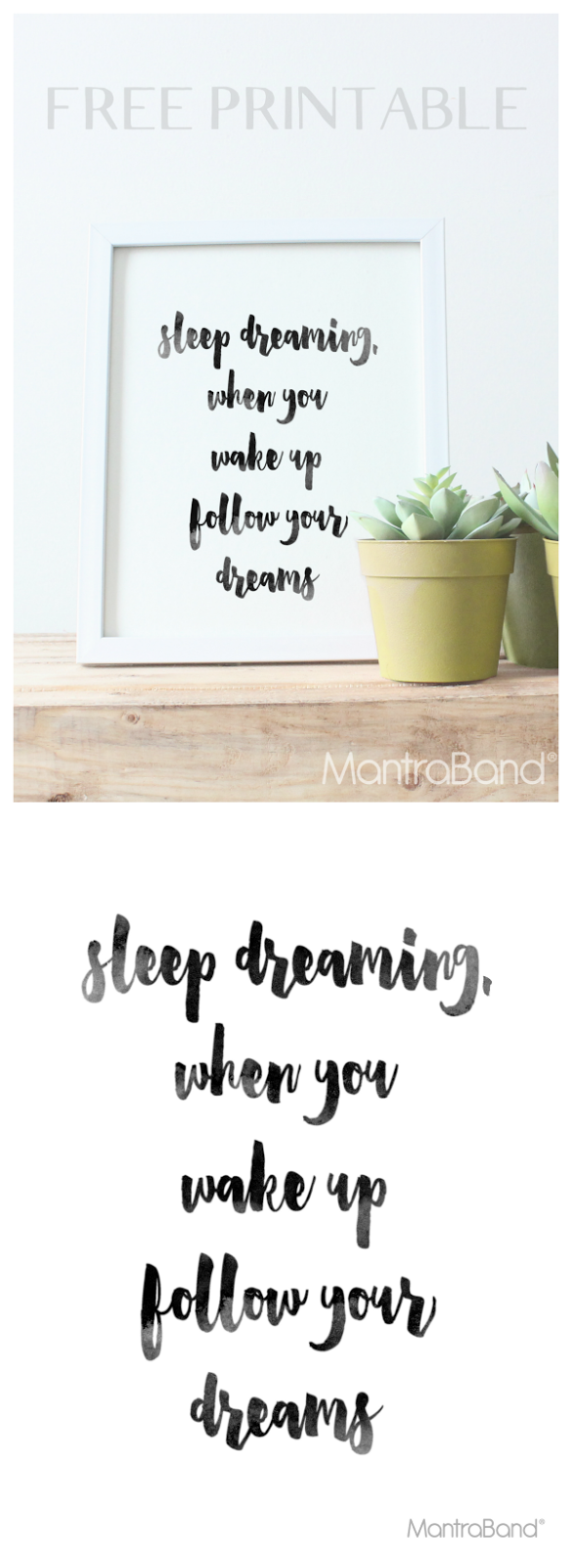 Sleep Dreaming. When You Wake Up Follow Your Dreams