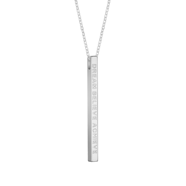Silver Dream Believe Achieve Necklace - MantraBand
