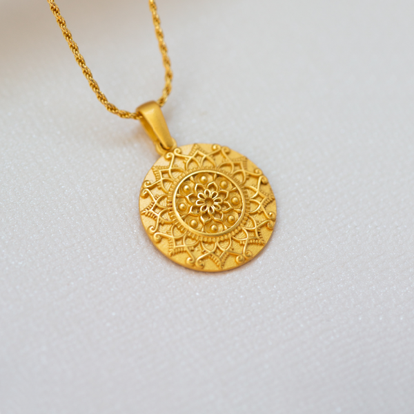 I Am Enough Mandala - 18k Gold