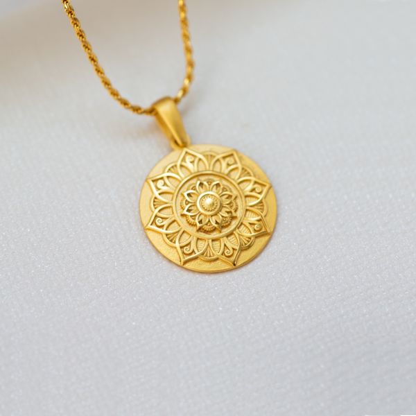 I Am Grateful Mandala - 18k Gold